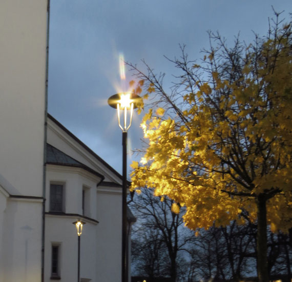 belysning vid kyrka, Eli