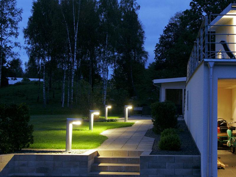 Villa Ekliden, Eli, belysning, utomhusbelysning, Eli referens